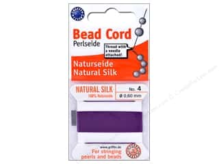 beading & jewelry making supplies: Beadalon Cord 100% Silk Size 4 Amethyst 2 M