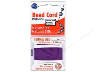 beading & jewelry making supplies: Beadalon Cord 100% Silk Size 8 Amethyst 2 M