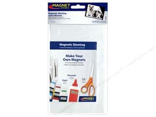 Magnets: The Magnet Source Flexible Magnetic Sheeting with Adhesive 5 x 8 in.