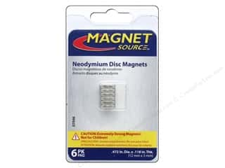 magnet: The Magnet Source Super Neodymium Magnet Discs 1/2 in. 6 pc.