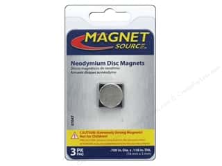 magnet disc: The Magnet Source Super Neodymium Magnet Discs 5/8 in. 3 pc.