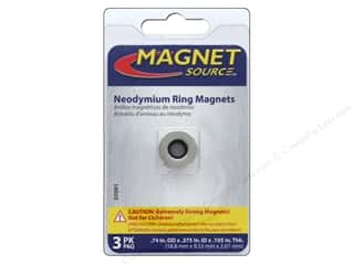 magnet: The Magnet Source Super Neodymium Magnet Rings 3/4 in. 3 pc.