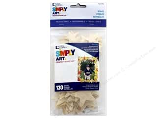 Loew Cornell Simply Art Wood Shapes Stars 130 pc.