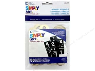 craft & hobbies: Loew Cornell Simply Art Wood Numbers & Symbols 50 pc.