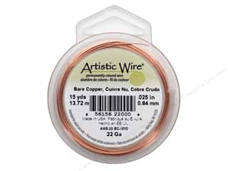 beading & jewelry making supplies: Artistic Wire 22 ga. Copper Wire 15 yd. Bare