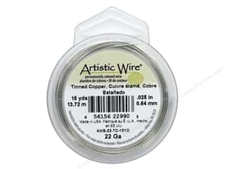 beading & jewelry making supplies: Artistic Wire 22 ga. Copper Wire 15 yd. Tinned