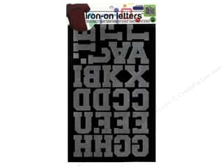 Dritz Iron On Athletic Letters 1 1/2 in. Black
