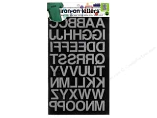 monogram iron ons Iron On Letters & Numbers: Dritz Iron-On Block Letters 1 in. Black