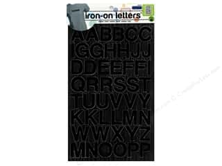 Dritz Embroidered Iron On Letters Black