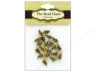 beading & jewelry making supplies: The Bead Giant Bead Angel Wing 20 mm Gold 10 pc