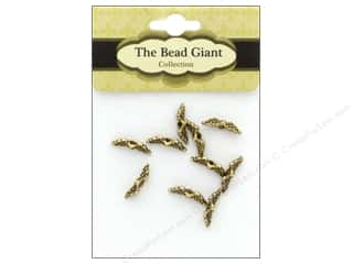 beading & jewelry making supplies: The Bead Giant Bead Angel Wing Mini Gold 10pc