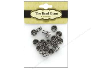 beading & jewelry making supplies: The Bead Giant Bead Disc Rhinestone 7mm Antique Silver 18pc