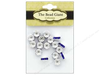 beading & jewelry making supplies: The Bead Giant Bead Disc Rhinestone 7mm Blue 18pc