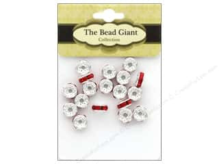 beading & jewelry making supplies: The Bead Giant Bead Disc Rhinestone 7mm Red 18pc
