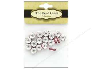 beading & jewelry making supplies: The Bead Giant Bead Disc Rhinestone 7mm Pink 18pc