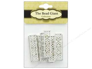 The Bead Giant Jewelry Bead Rhinestone Bar 10pc Silver