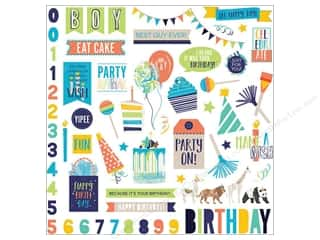"Photo Play Collection CAKE Party Animal Sticker Element 12""x 12"""