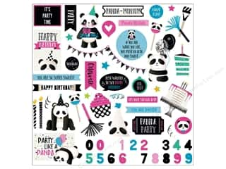 """Photo Play Collection CAKE Panda Party Sticker Element 12""""x 12"""""""