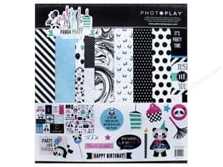 "stickers: Photo Play Collection CAKE Panda Party Collection Pack 12""x 12"""