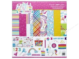 "Photo Play Collection CAKE Rainbow Sprinkles Collection Pack 12""x 12"""