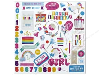 "Photo Play Collection CAKE Rainbow Sprinkles Sticker Element 12""x 12"" (12 pieces)"