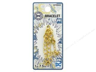 "beading & jewelry making supplies: Cousin DC Comics Bracelet 7"" Gold"