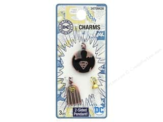beading & jewelry making supplies: Cousin DC Comics Charms Superman Copper/Gold 3pc