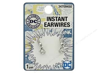 beading & jewelry making supplies: Cousin DC Comics Instant Earwires Silver
