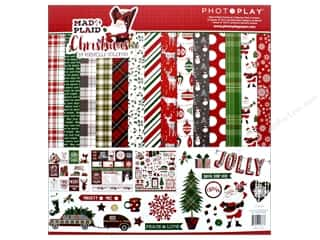 "Photo Play Collection Mad 4 Plaid Christmas Collection Pack 12""x 12"""