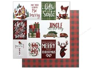 "Photo Play Collection Mad 4 Plaid Christmas Paper 12""x 12"" Jingle (25 pieces)"