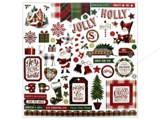 "Photo Play Collection Mad 4 Plaid Christmas Sticker Element 12""x 12"" (12 pieces)"