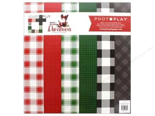 Photo Play Collection Mad 4 Plaid Christmas Solids Plus Collection Pack 12 x 12 in.