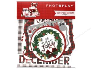 Photo Play Collection Mad 4 Plaid Christmas Ephemera Die Cuts