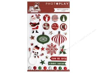 stickers: Photo Play Collection Mad 4 Plaid Christmas Sticker Puffy