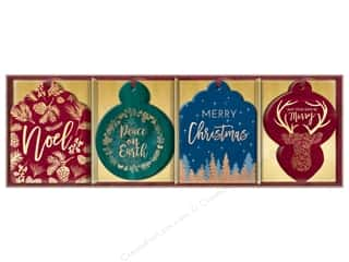 Gifts & Giftwrap: Lady Jayne Gift Tags Die-Cut Winter Glitz 16pc