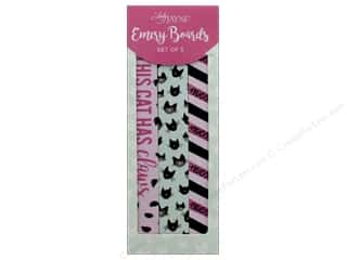 Lady Jayne Nail File Emery Board Cat Lady Set of 3