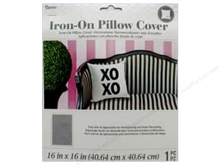 sewing & quilting: Darice Iron On Pillow Cover Zip 16 in. x 16 in. Grey