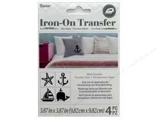 Darice Iron-On Transfer Nautical - Black 4 pc.