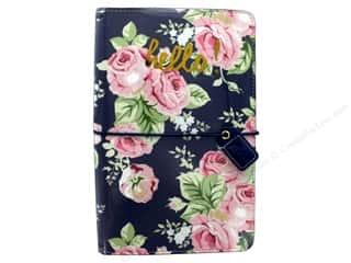 Webster's Pages Color Crush Planner Traveler Floral Navy Book Wrap
