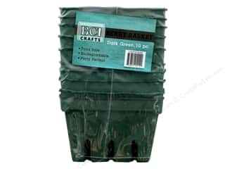 craft & hobbies: BCI Crafts Berry Basket 10 pc. Green
