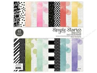 Simple Stories: Simple Stories Paper Pad  12 in. x 12 in. High Style