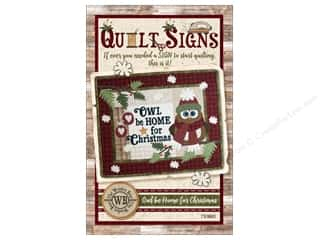 Clearance: The Wooden Bear Owl Be Home for Christmas Pattern