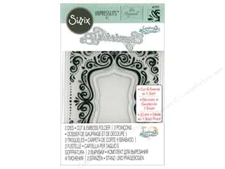 Sizzix Impresslits Emboss Folder Courtney Chilson Aquarius Frame