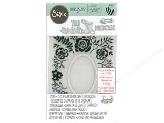 die cutting machines: Sizzix Impresslits Emboss Folder Courtney Chilson Garden Frame