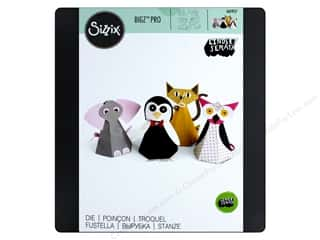 die cutting machines: Sizzix Dies Lindsey Serate Bigz Pro Cat/Elephant/Owl/Penguin