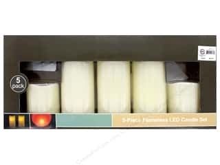 Sierra Pacific Crafts Lights Candle LED Flameless Set With Remote 5 pc Ivory