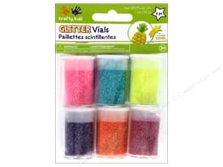 Multicraft Krafty Kids Twinkle Town Glitter Vials Neon Assortment Picture