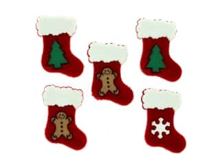 craft & hobbies: Jesse James Embellishments - Holiday Stockings