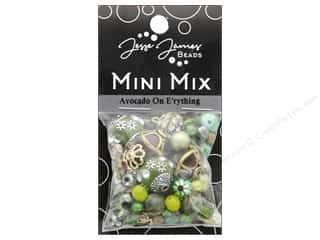 beading & jewelry making supplies: Jesse James Bead Mini Mix Avocado On E'rything
