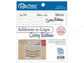Paper Accents Address-a-Lope Plastic 2 in 1 Template Curvy